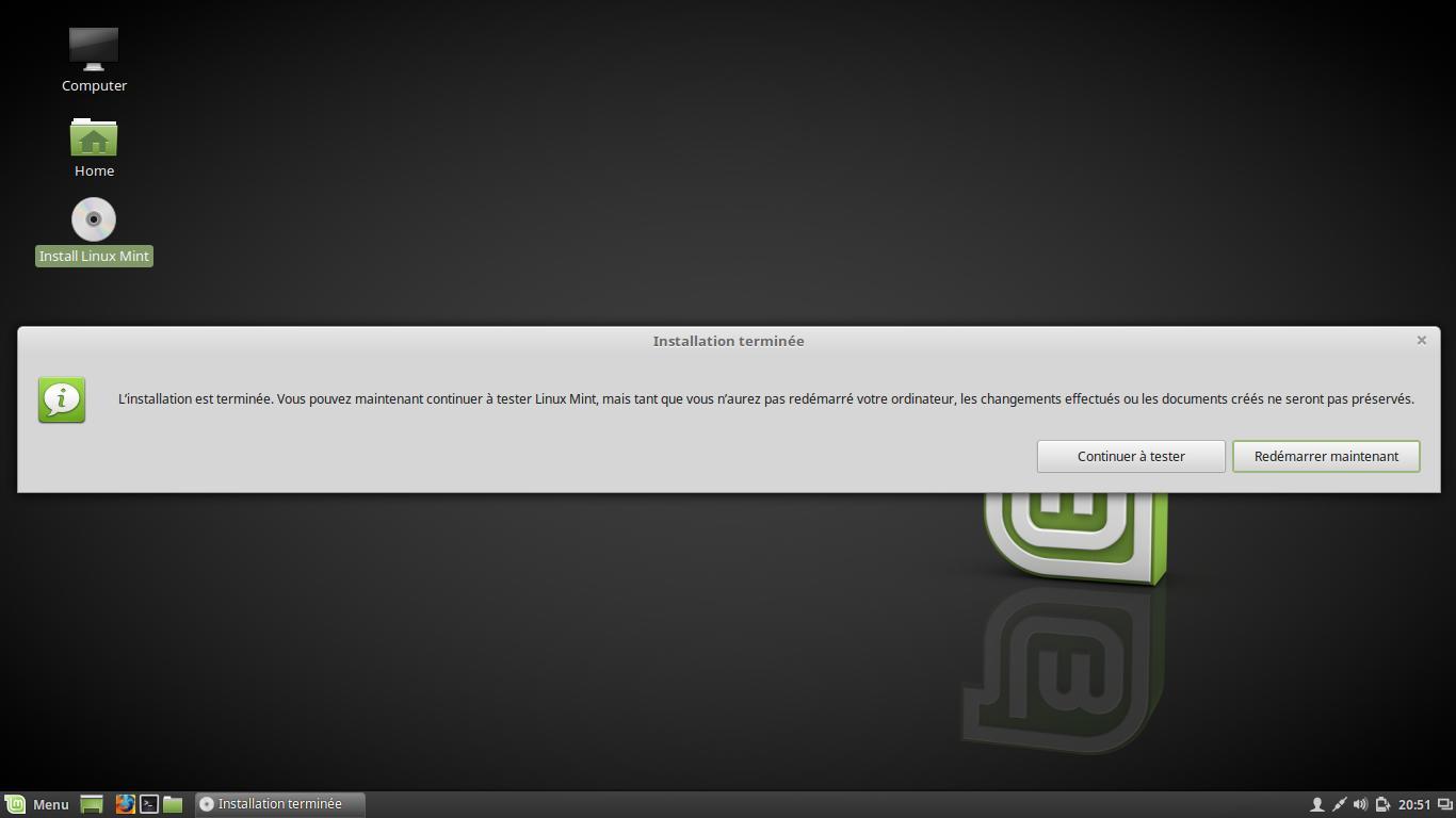 telecharger linux mint sur clé usb